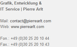Direct contact to Grafik, Entwicklung & IT Service